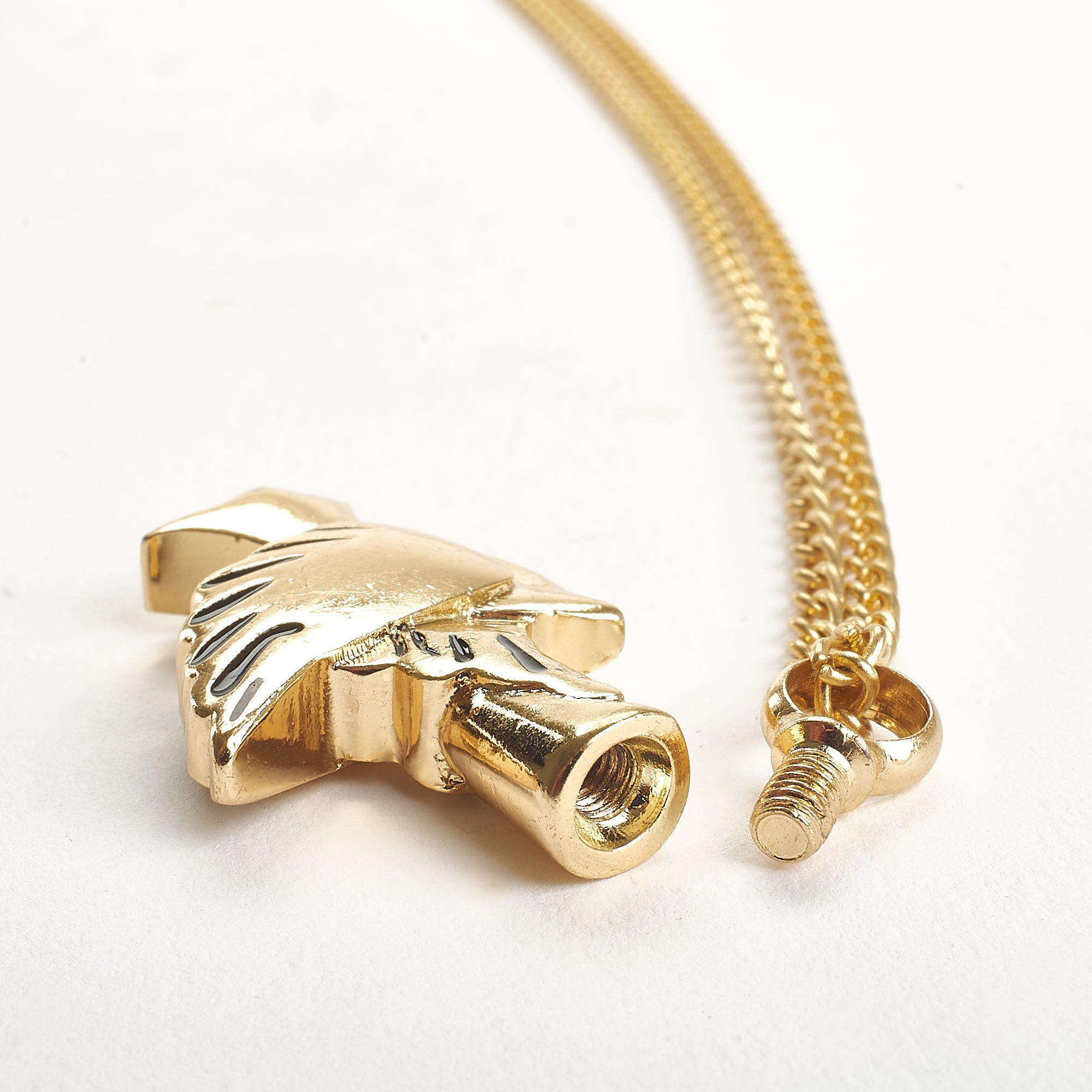 Cremation Pendant - Gold Peace Dove