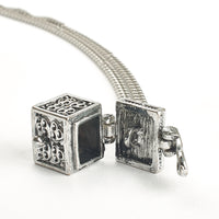 Cremation Pendant - Secret Filigree Silver Box
