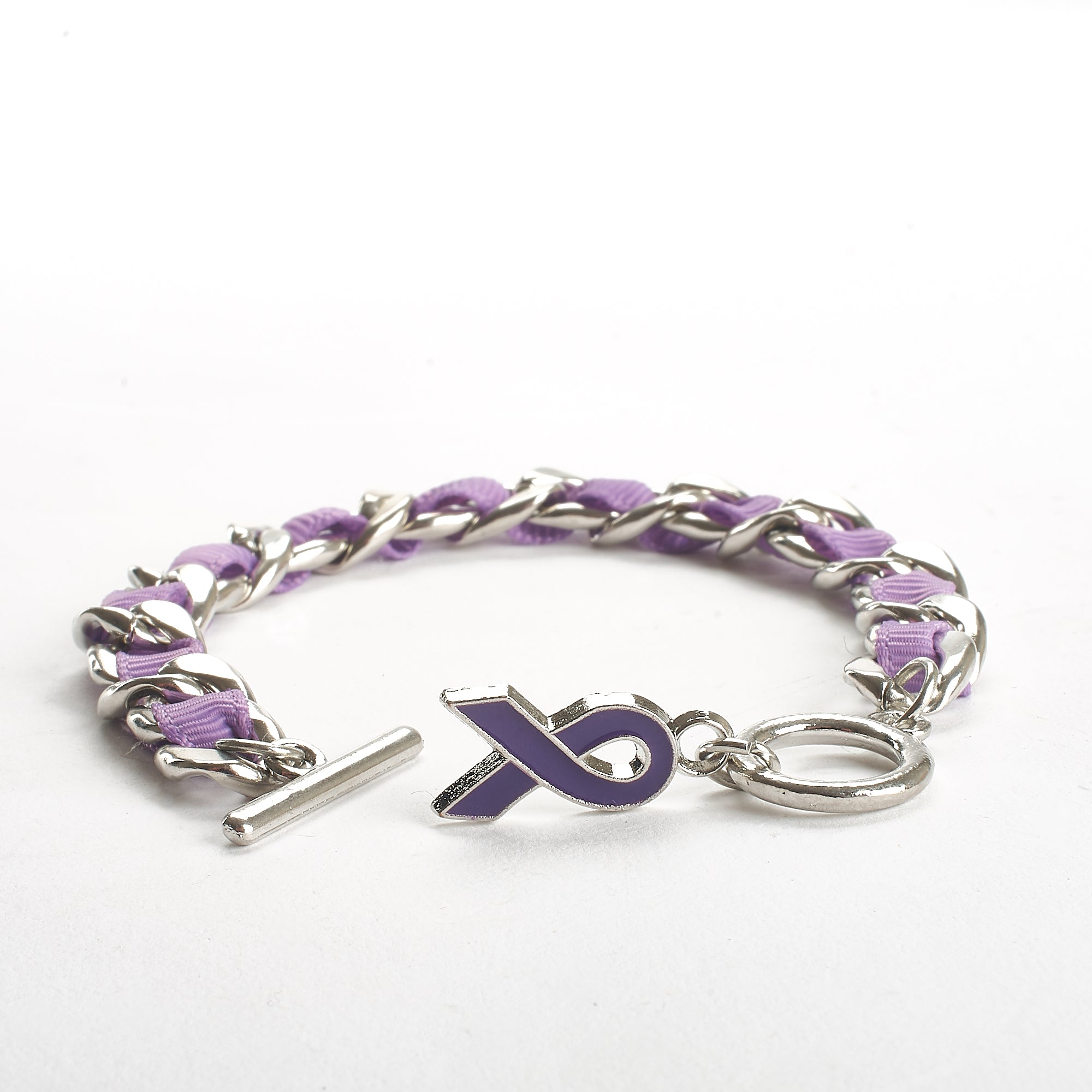 Memorial Bracelet - Purple Ribbon - Family Handout