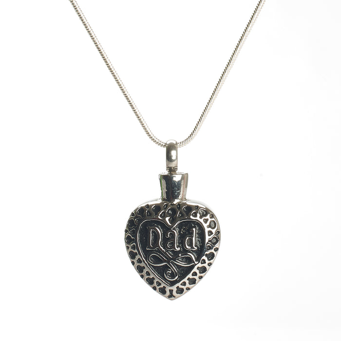 Cremation pendant - Family - Dad in Heart Celtic Design