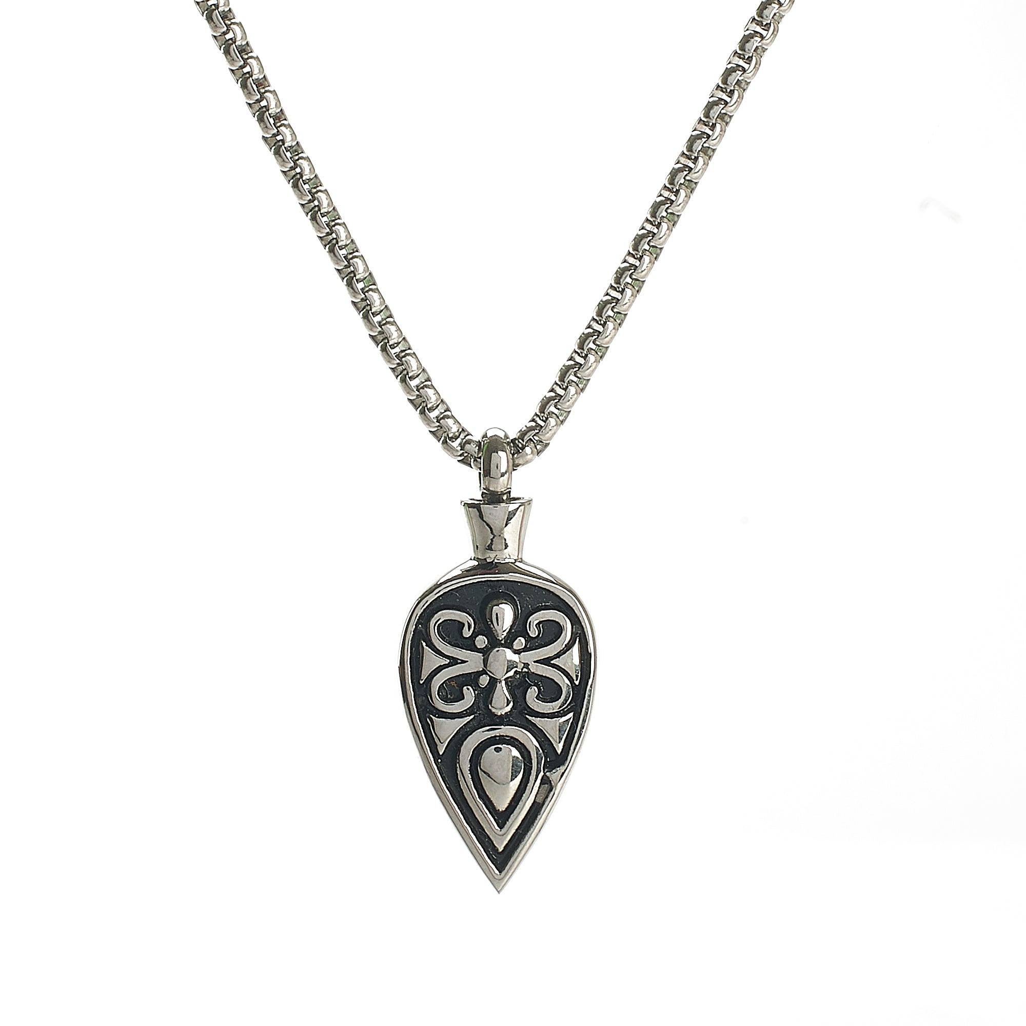 Cremation Pendant - Silver Celtic Spear Head
