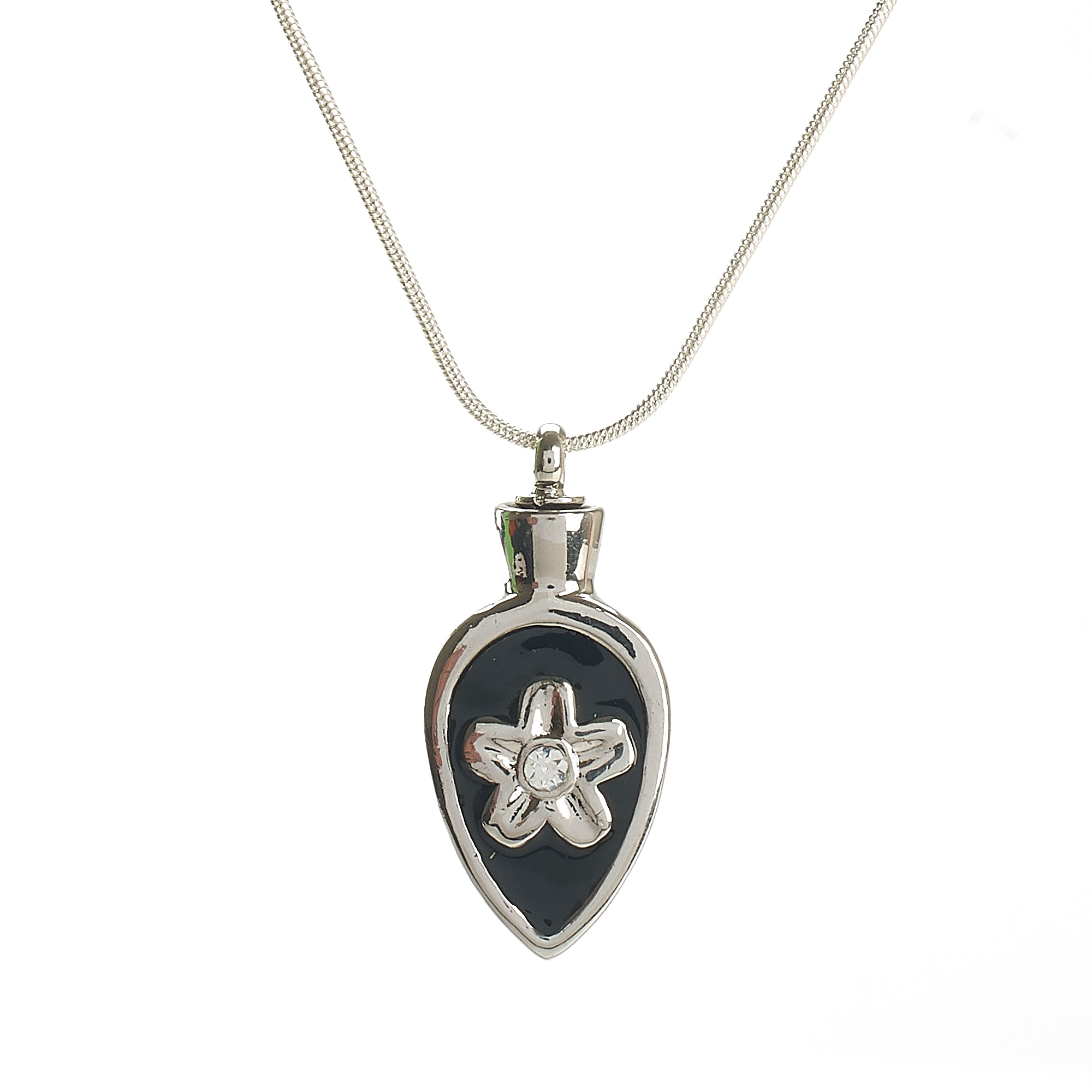Cremation Pendant - Flower within a Celtic Spear