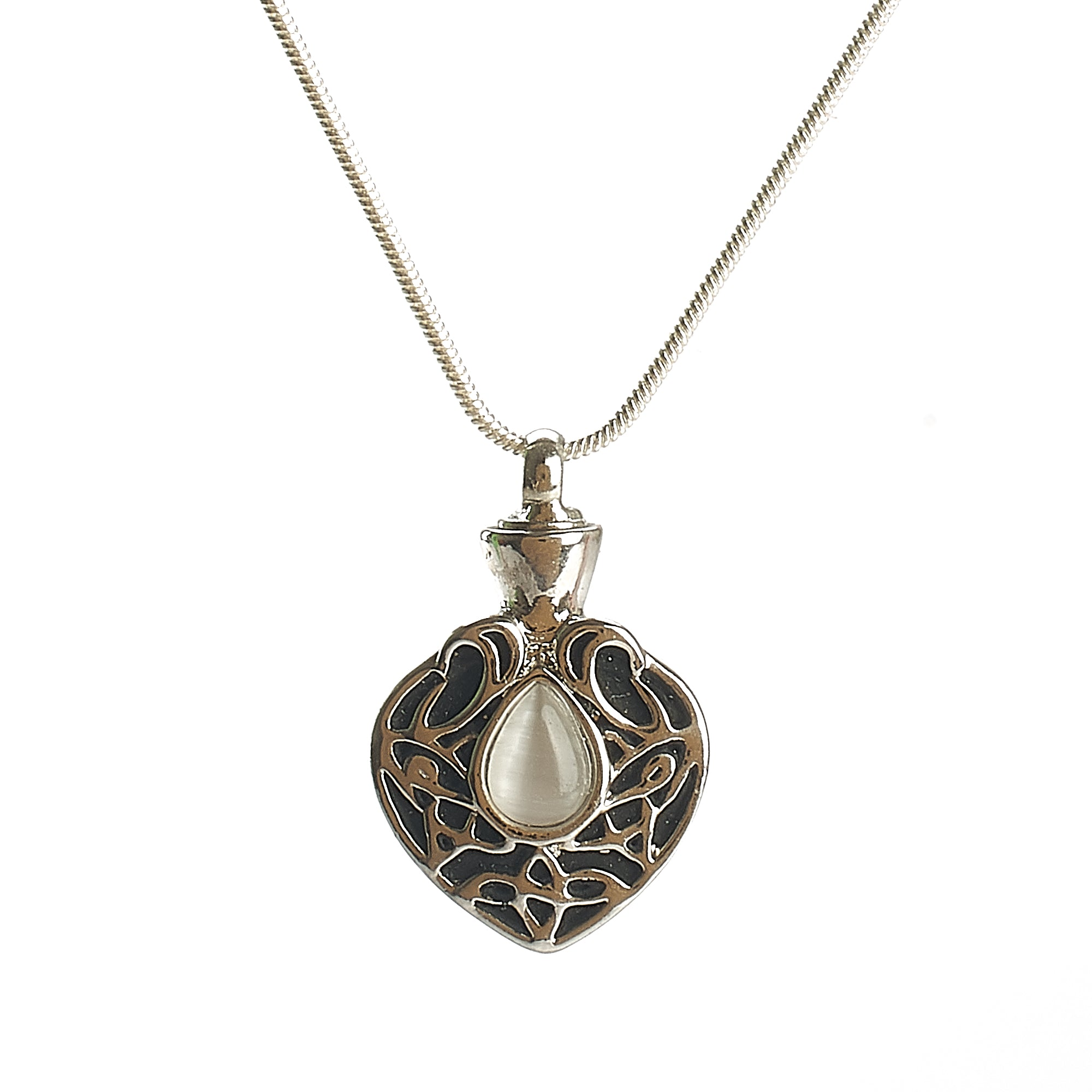 Cremation Pendant - Celtic Spear with Mother of Pearl