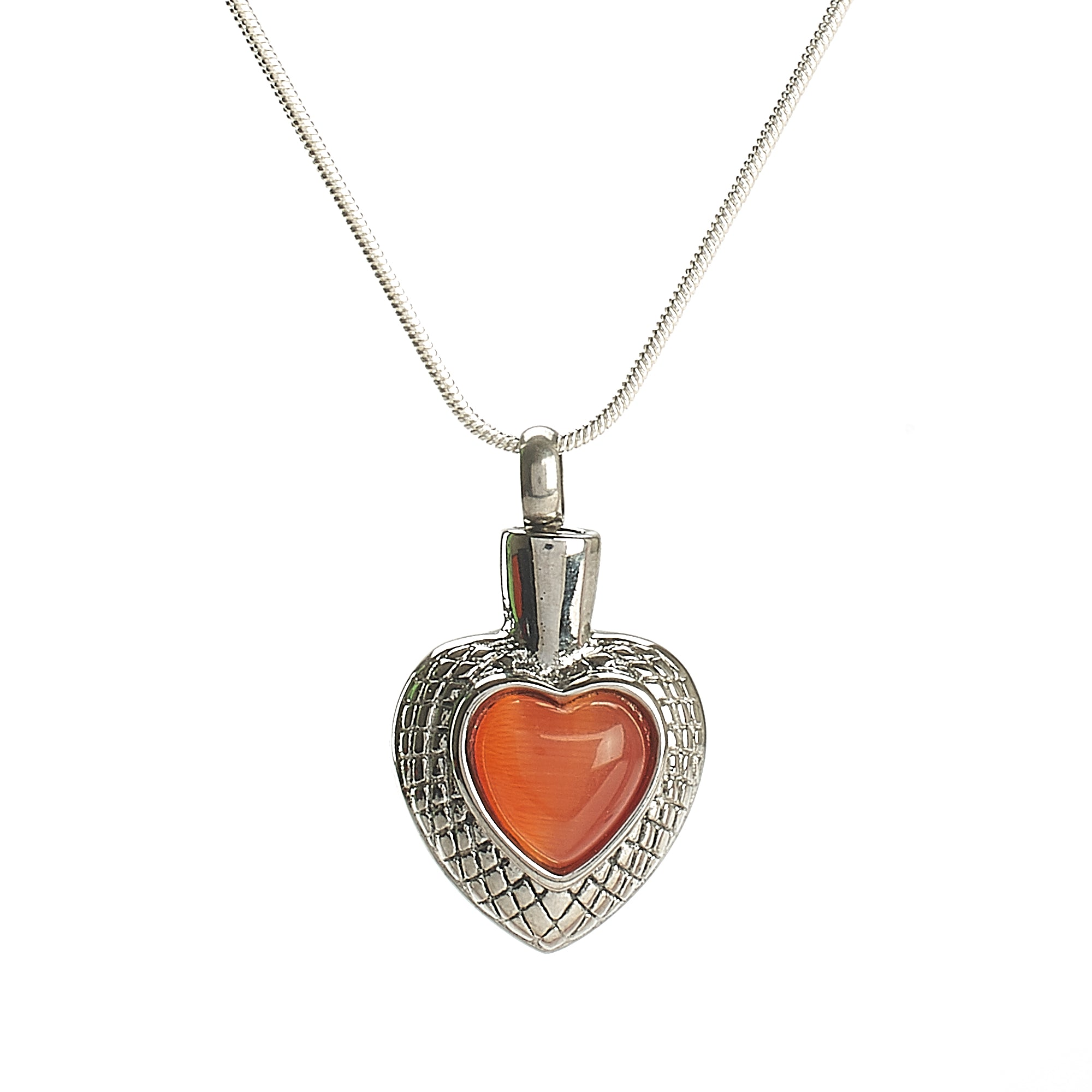 Cremation Pendant - Small Celtic Heart - Orange