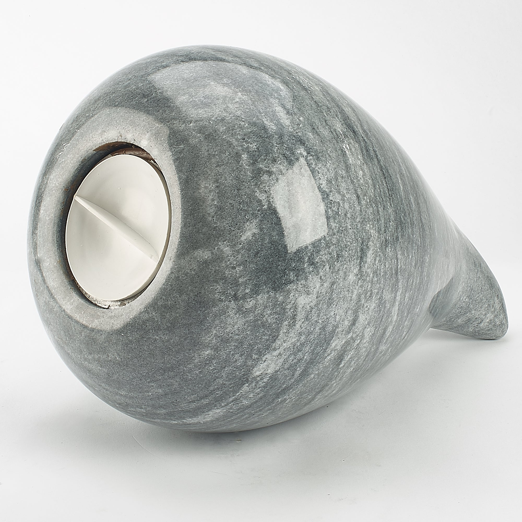 Cremation Urn - Large Luxury Grey Marble Teardrop
