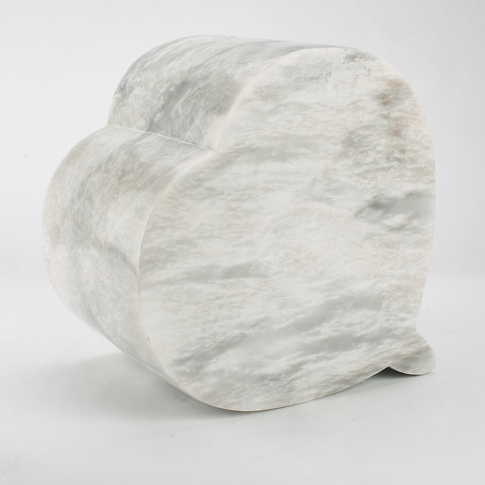 Cremation Urn - Large Luxury Marble Grey Heart