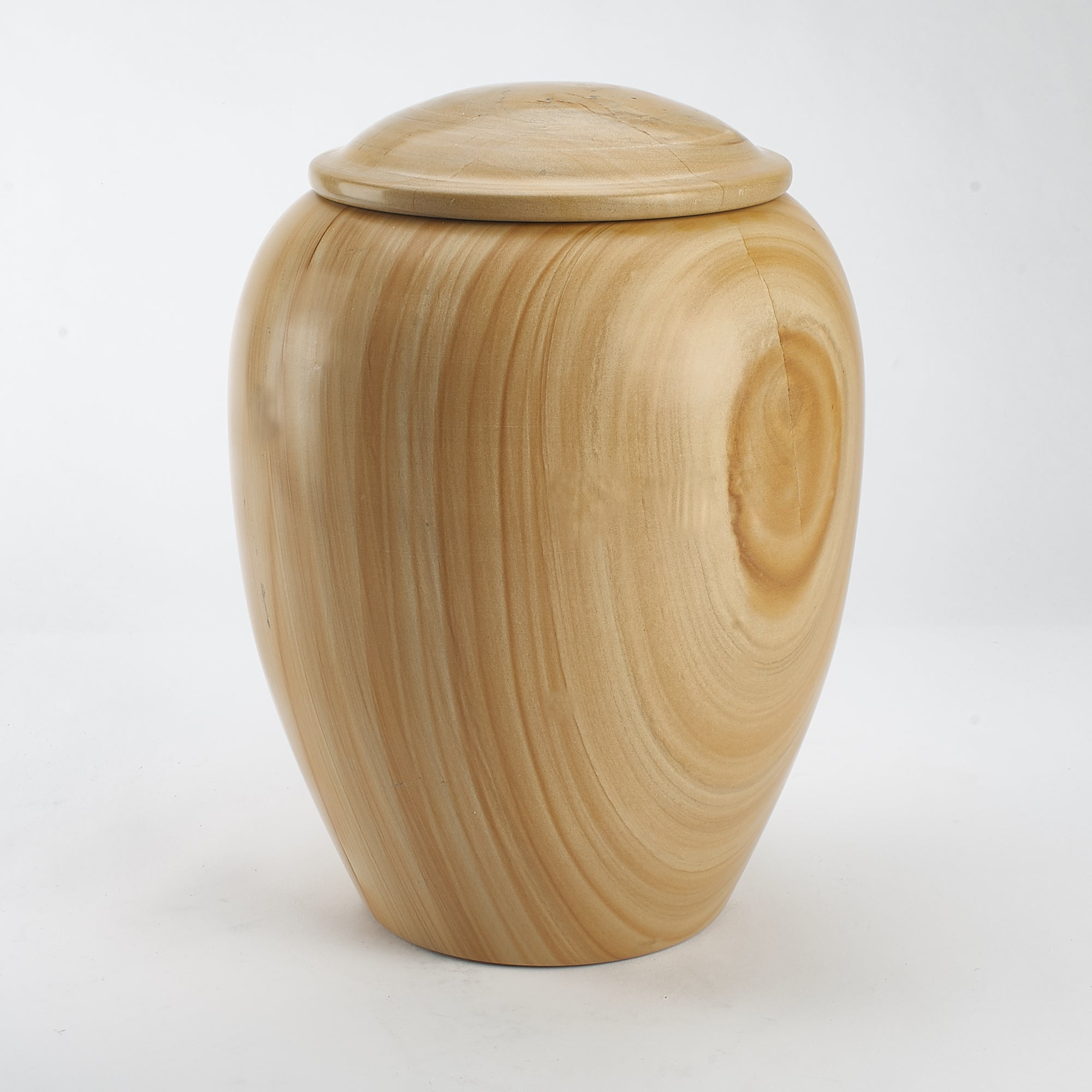 Cremation Urn - Large Luxury Burma Teak Marble