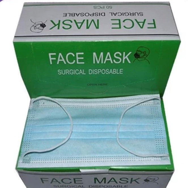 Face mask - 3ply - ear-loop 50 pack