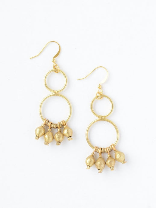 Comet Dangle Earrings - Brass