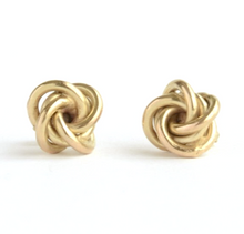 Knotted Stud Earrings - Brass