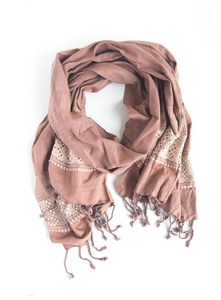 Tuyen Patterned Scarf Mauve