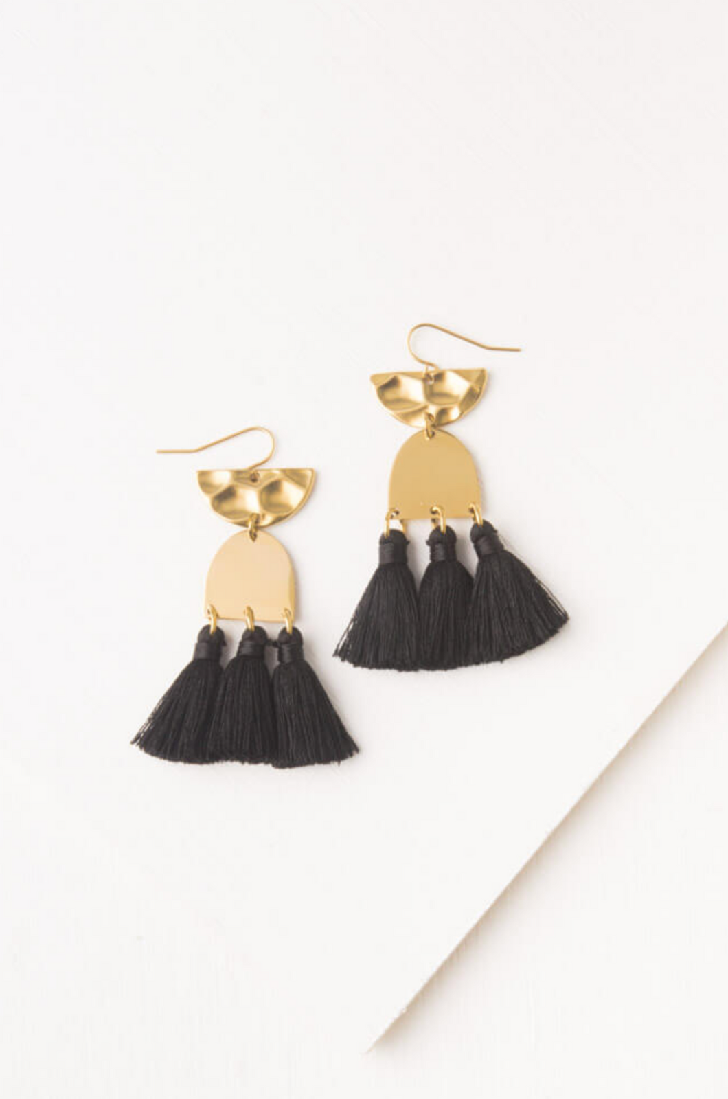 Amelia Midnight Tassel Earrings