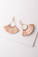 Ava Blush Tassel Earrings