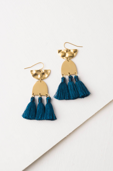 Amelia Ocean Tassel Earrings