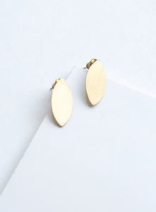 Blossom Brushed Studs - Brass