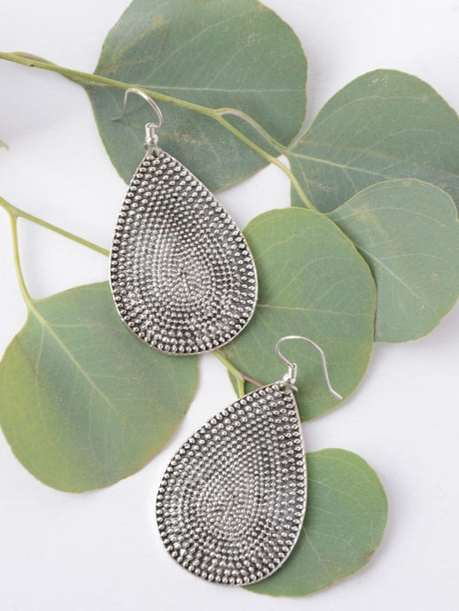 Textured Tear Drop Earrings