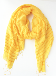 Anh Striped Scarf - Sunflower