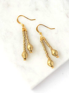 Bemnu Earrings - Gold