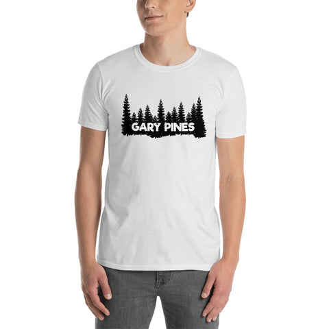 Gary Pines Tree Outline Short-Sleeve Unisex T-Shirt
