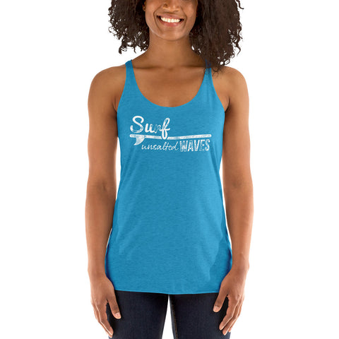 Surf UNSALTED Waves Women's Racerback Tank