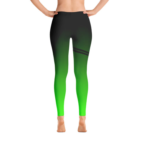 ALLsoPURE Black Green Ombre Leggings