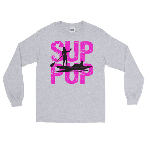 SUP PUP 2 PINK Long Sleeve T-Shirt