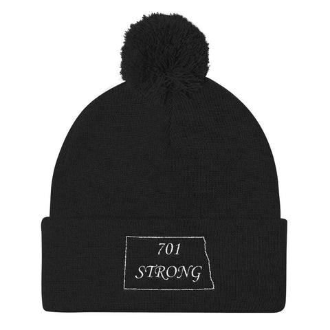701 STRONG Pom Pom Knit Cap