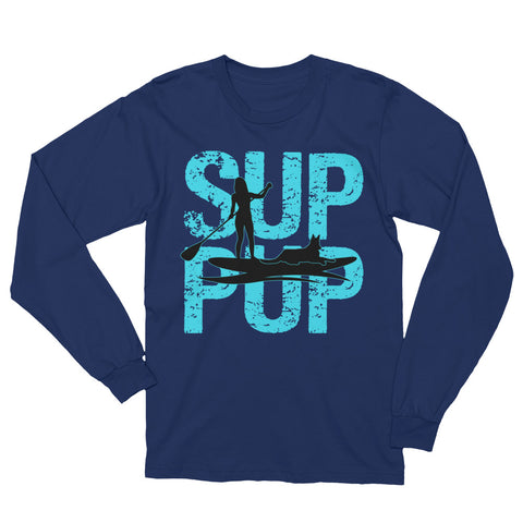 SUP PUP 2 BLUE LONG SLEEVE Unisex Long Sleeve T-Shirt