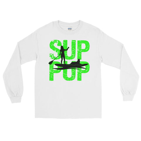 SUP PUP 2 GREEN Long Sleeve T-Shirt