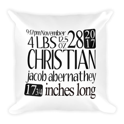Baby Custom Square Pillow