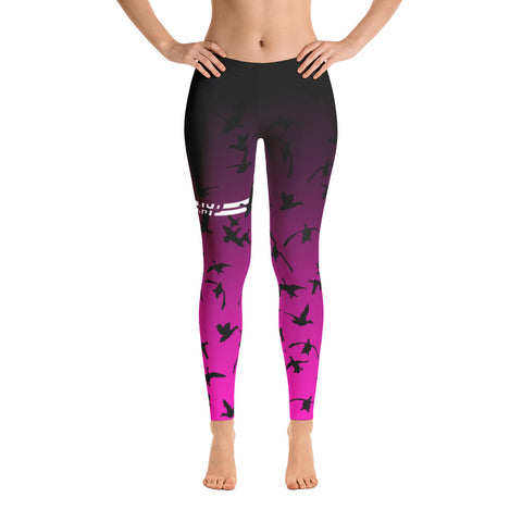 ALLsoPURE Duck Hunting Leggings Pink Black Ombre Leggings
