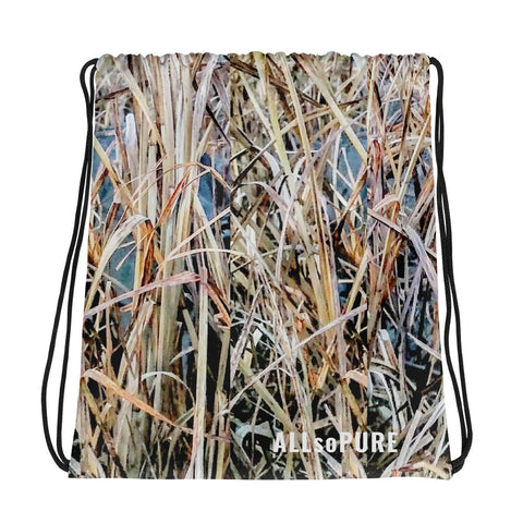 ALLsoPURE Camo Loaded Drawstring bag