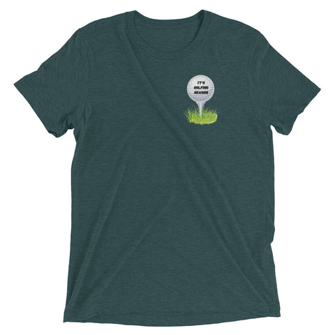 IT'S GOLFING SEASON Short sleeve t-shirt