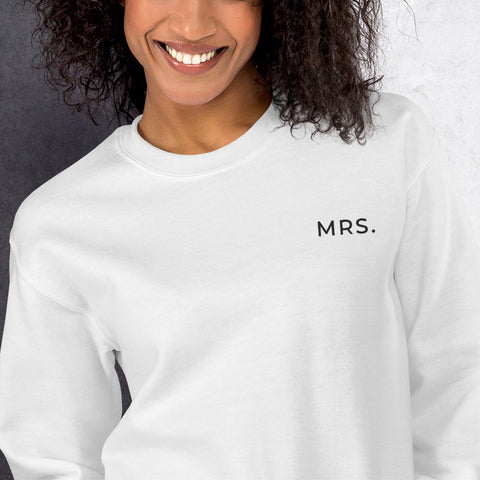 MRS. Embroidered Unisex Sweatshirt