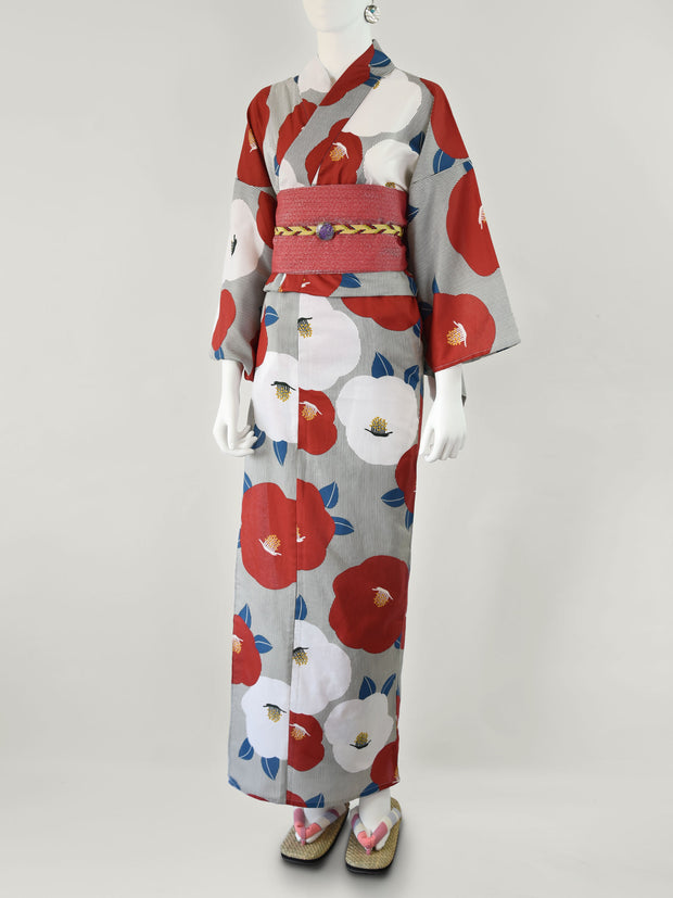 Red Showa Women's Yukata