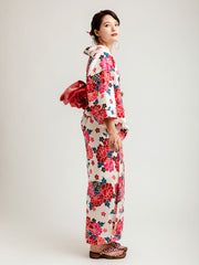 Red Hanakago Yukata Side