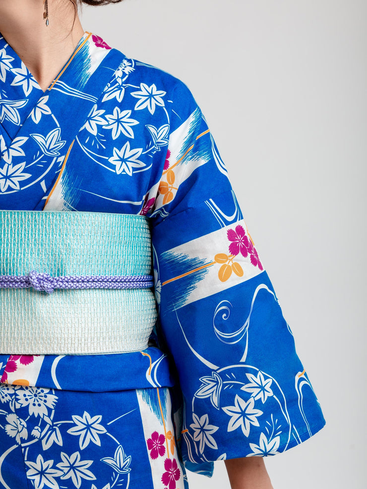 Fuyo Blue Yukata Close-Up