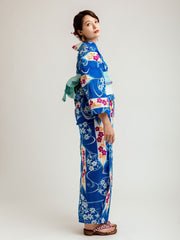 Fuyo Blue Yukata Side