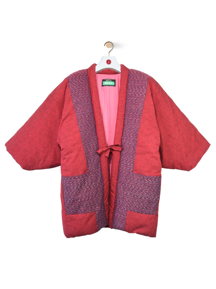 Patchwork Hanten Padded Jacket