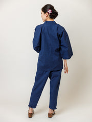 Japan Blue Samue Jacket & Lounge Pants Back