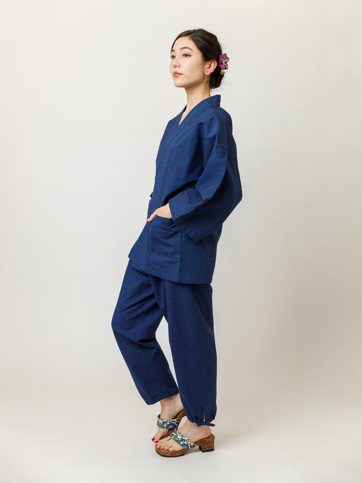 Japan Blue Samue Jacket & Lounge Pants SIde