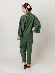 Matcha Green Samue Jacket & Lounge Pants Back