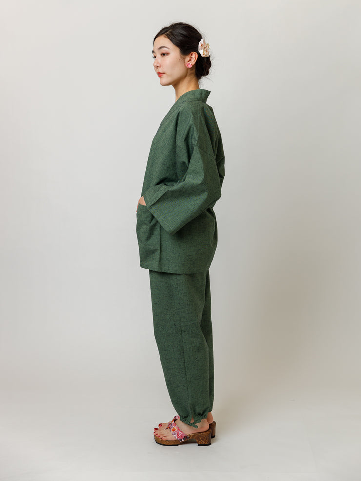 Matcha Green Samue Jacket & Lounge Pants Side