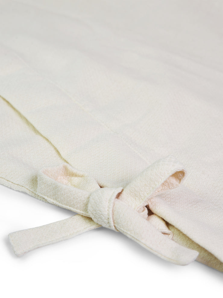 Samue Cotton Gauze Pajama Set in Ivory Jacket Waist