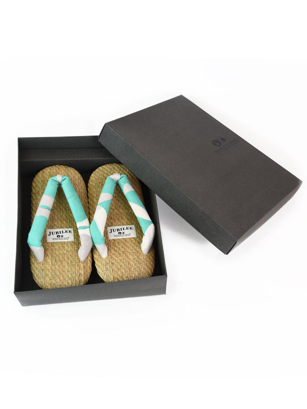 Grass Woven Setta Japanese Sandals in Lime