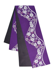 Reversible Sakura Purple Obi Belt