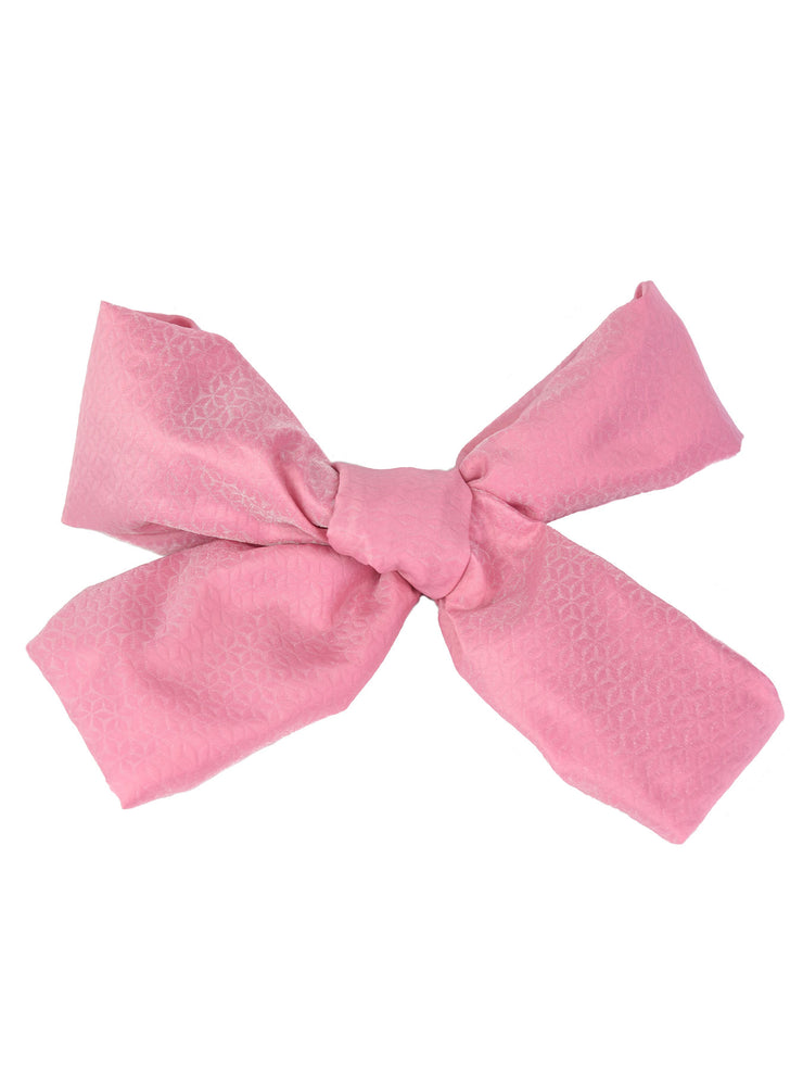 Pink Diamond Weave Obi Belt Bow