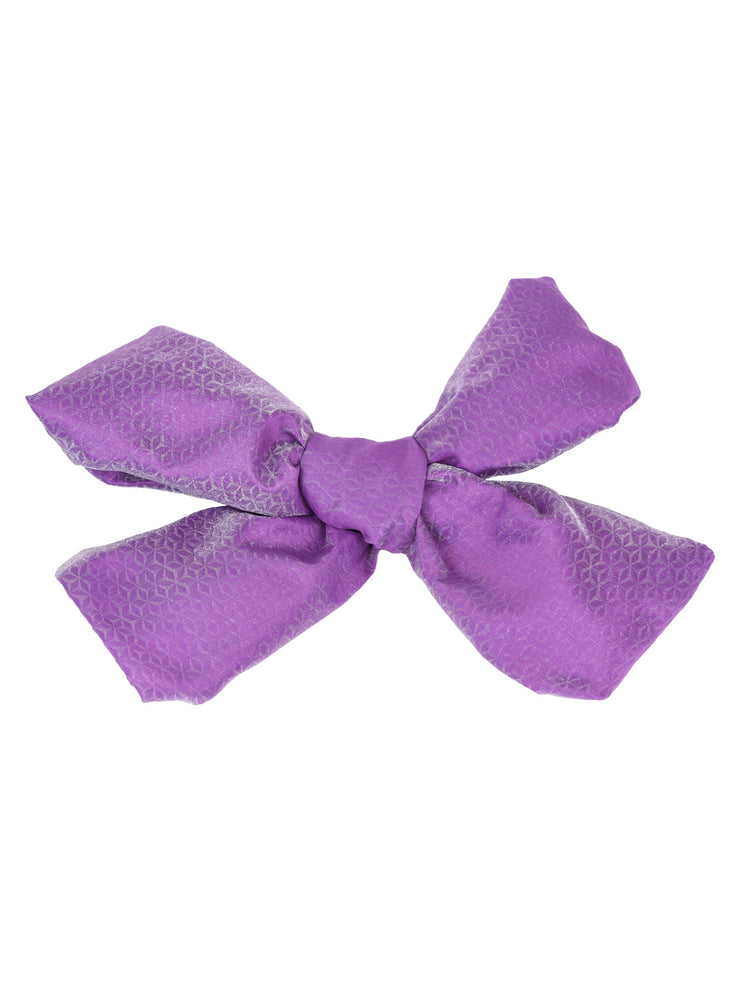 Purple Diamond Weave Obi Belt Bow