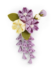Sakura Bouquet Kanzashi Silk Hair Clip/Brooch
