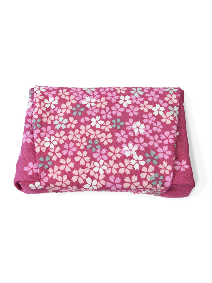 Falling Cherry Blossom Furoshiki Gift Wrapping
